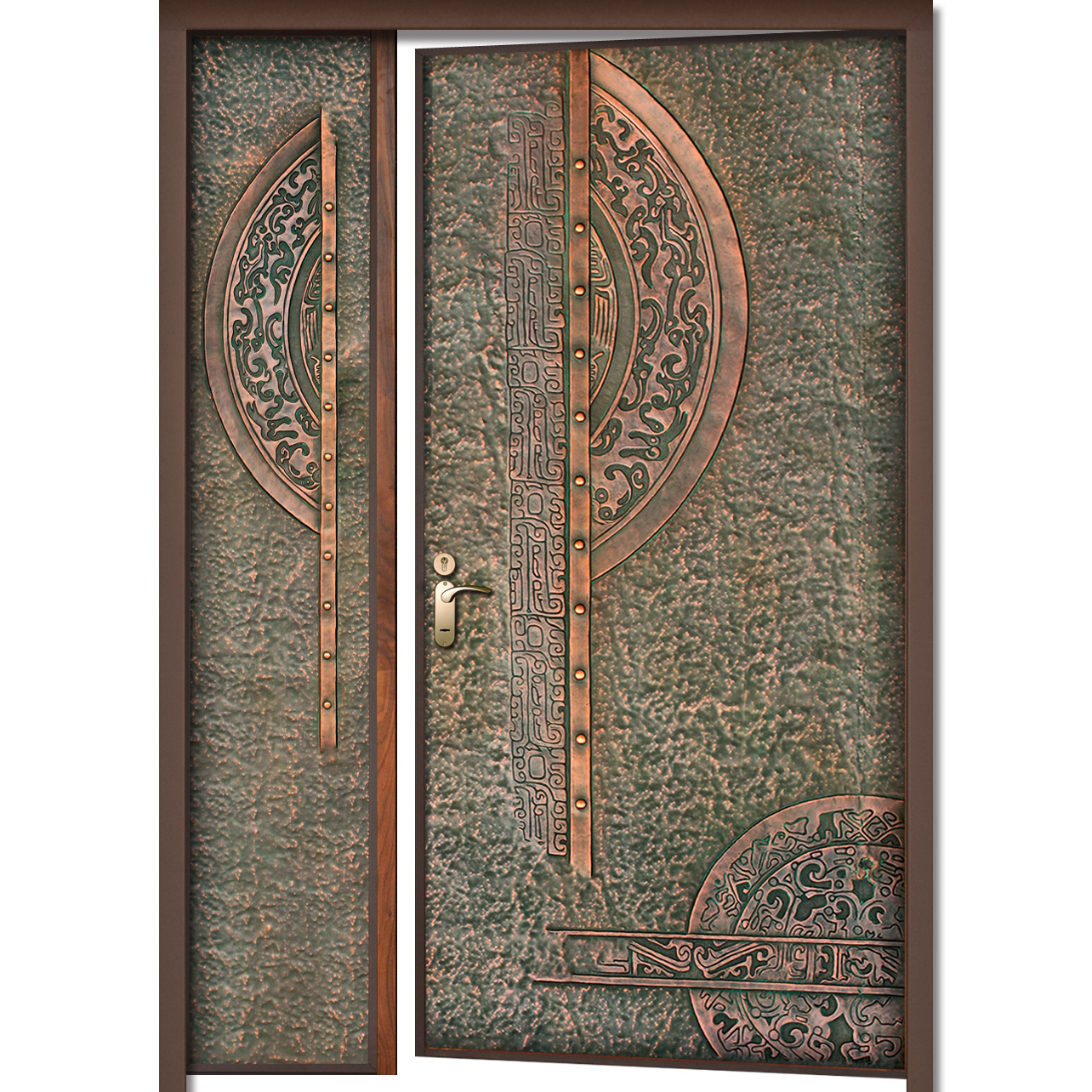 01-1018-B.  sc 1 th 225 & Copper Door - with Side Panel - Prolumis